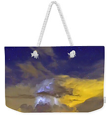 Weekender Tote Bag featuring the photograph Stormy Stormy Night by Charlotte Schafer