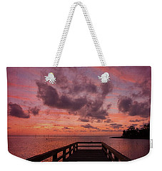 Stormy Sunset Weekender Tote Bag by Beverly Stapleton