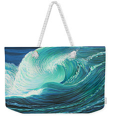 Stormy Wave Weekender Tote Bag