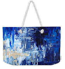 Weekender Tote Bag featuring the painting Stormy Waves by Rebecca Davis