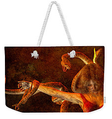 Story Of Eve Weekender Tote Bag by Bob Orsillo