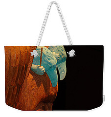 Weekender Tote Bag featuring the photograph Story Pole by Cheryl Hoyle