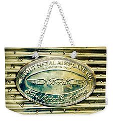 Stout Metal Airplane Co. Emblem Weekender Tote Bag