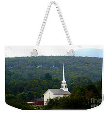 Stowe Community Church Weekender Tote Bag by Patti Whitten