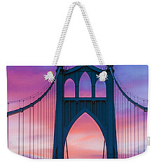 Straight Down The Bridge Weekender Tote Bag