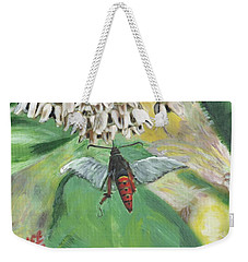 Strange Bug At Flowers Weekender Tote Bag
