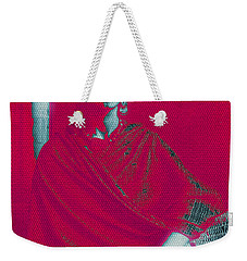 Weekender Tote Bag featuring the mixed media Strange Frida by Michelle Dallocchio