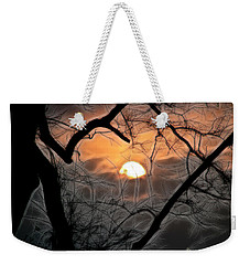 Weekender Tote Bag featuring the photograph Strange Morning by EricaMaxine  Price