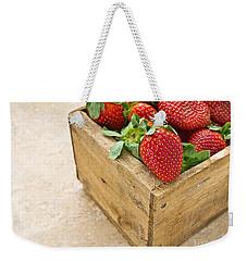 Strawberries Weekender Tote Bag by Edward Fielding