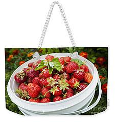 Strawberry Harvest Weekender Tote Bag by Elena Elisseeva