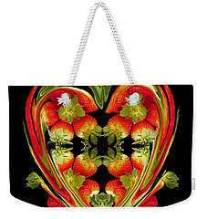 Strawberry Heart Weekender Tote Bag