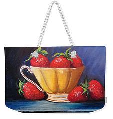 Strawberry Teacup Weekender Tote Bag