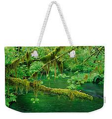 Stream Flowing Through A Rainforest Weekender Tote Bag