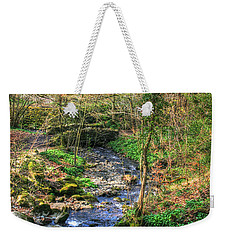 Weekender Tote Bag featuring the photograph Stream In Wales by Doc Braham