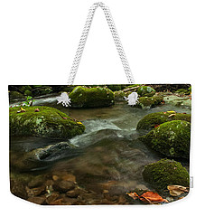 Weekender Tote Bag featuring the photograph Stream With The Color Of Early Fall. by Debbie Green