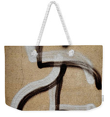 Weekender Tote Bag featuring the photograph Street Art 'dablos' Graffiti In Bucharest Romania  by Imran Ahmed