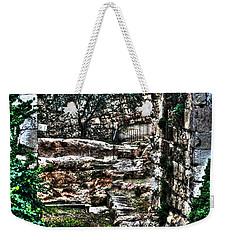 Weekender Tote Bag featuring the photograph Street In Jerusalem by Doc Braham