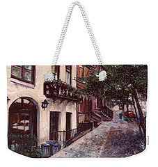 street in the Village NYC Weekender Tote Bag by Walter Casaravilla