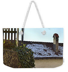 Weekender Tote Bag featuring the photograph Street Lamp At The Castle  by Felicia Tica