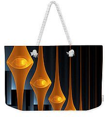 Weekender Tote Bag featuring the digital art Street Lights by Gabiw Art