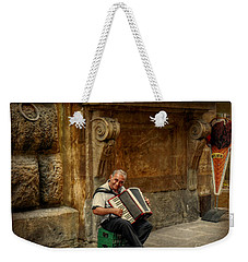 Street  Music Weekender Tote Bag by Valerie Reeves