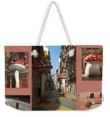 Street Of Giant Mushrooms Weekender Tote Bag by Linda Prewer
