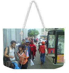 Street Scene Weekender Tote Bag by David Trotter