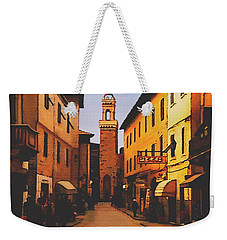 Weekender Tote Bag featuring the painting Street Scene by Sophia Schmierer