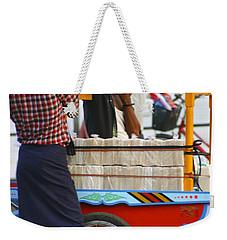 Street Seller At The Foreshore Of The Yangon River Yangon Myanmar Weekender Tote Bag