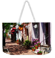 Alexandria Va - Street With Art Gallery And Tobacconist Weekender Tote Bag