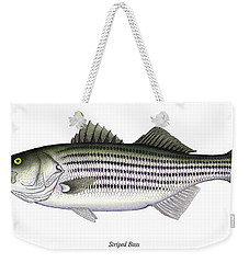 Striped Bass Weekender Tote Bag