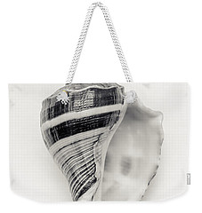 Striped Sea Shell Weekender Tote Bag
