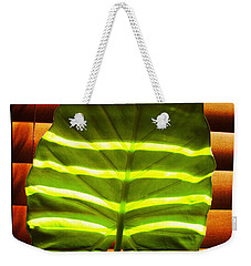 Stripes Of Light Weekender Tote Bag by Nina Ficur Feenan