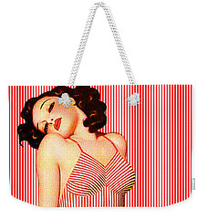 Weekender Tote Bag featuring the digital art Stripes by Sasha Keen