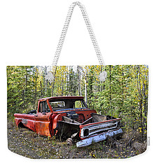 Weekender Tote Bag featuring the photograph Stripped Chevy by Cathy Mahnke