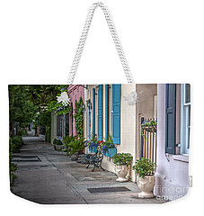 Strolling Down Rainbow Row Weekender Tote Bag