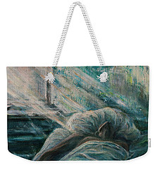 Struggling... Weekender Tote Bag by Xueling Zou