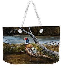 Strutting Pheasant Weekender Tote Bag by Darice Machel McGuire