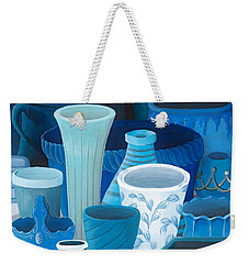 Study In Blue Weekender Tote Bag