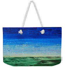 Weekender Tote Bag featuring the painting Study Of Earth And Sky by Linda Bailey
