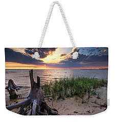 Stumps And Sunset On Oyster Bay Weekender Tote Bag