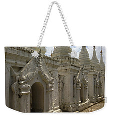 Weekender Tote Bag featuring the photograph Stupas With Buddhist Inscription Slabs Sandamuni Pagoda Mandalay Burma by Ralph A  Ledergerber-Photography