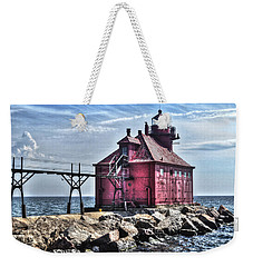 Weekender Tote Bag featuring the photograph Sturgeon Bay Ship Canal by Deborah Klubertanz