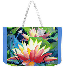 Styalized Lily Pads 3 Weekender Tote Bag
