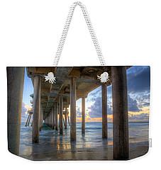 Subtle Pier Sunset Weekender Tote Bag