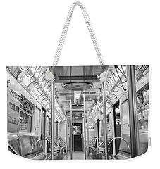 New York City - Subway Car Weekender Tote Bag