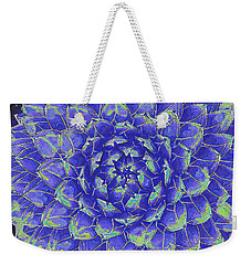 Succulent - Blue Weekender Tote Bag by Jane Schnetlage