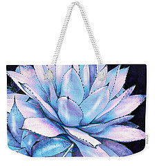 Succulent In Blue And Purple Weekender Tote Bag by Jane Schnetlage
