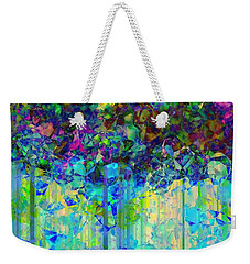 Weekender Tote Bag featuring the digital art Sudden Rain And My Blues by Wendy J St Christopher