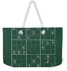 Sudoku On A Chalkboard Weekender Tote Bag